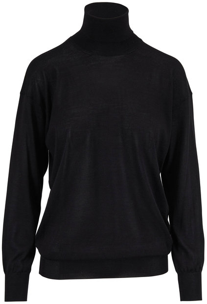 Tom Ford Black Fine Cashmere & Silk Turtleneck