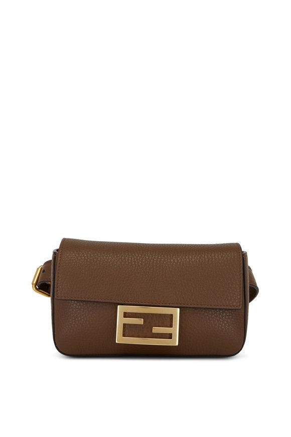 Fendi Mudd Pebbled Leather Mini Belt Bag