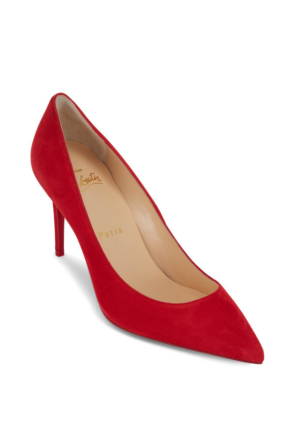 Christian Louboutin Kate Red Suede Pump, 85mm