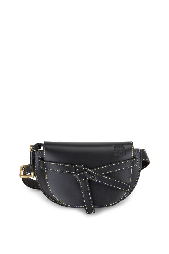 Loewe Mini Gate Black Leather Belt Bag