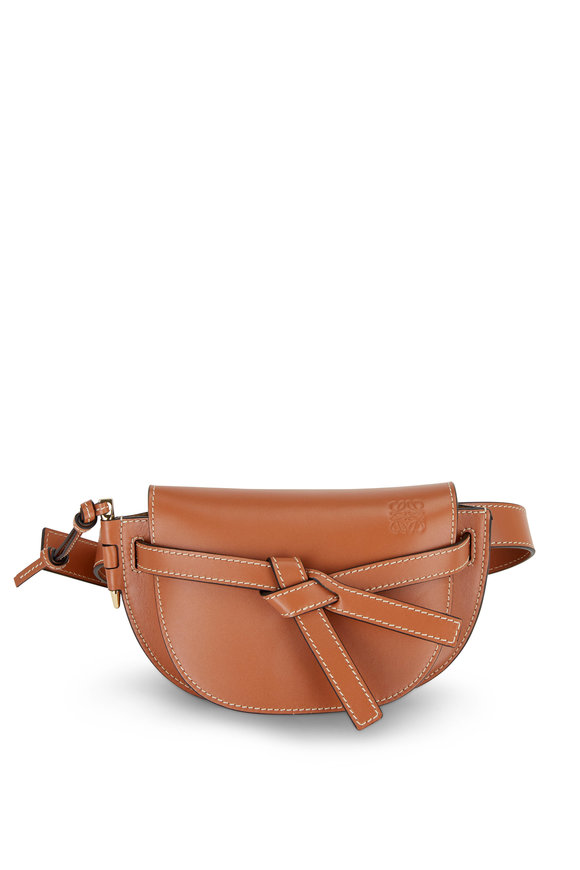 Loewe Mini Gate Tan Leather Belt Bag
