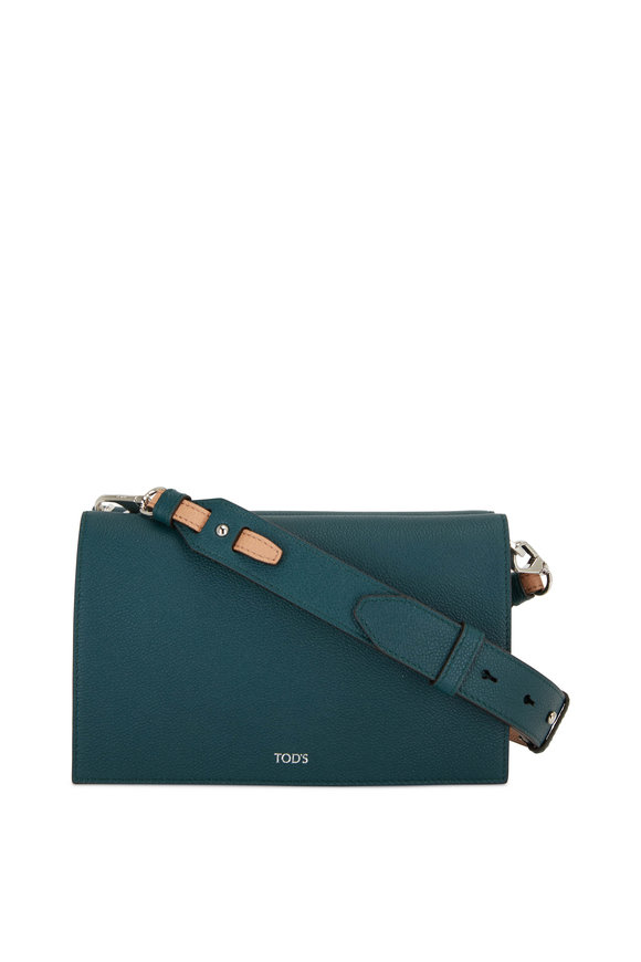 Tod's Doppia Dark Green Grained Leather Crossbody