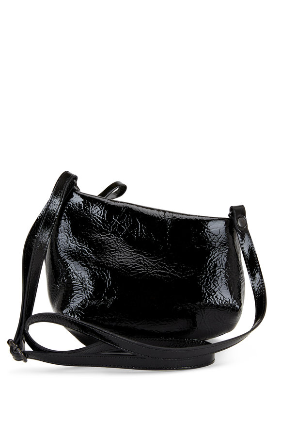 Marsell Fantasmino Black Patent Leather Crossbody