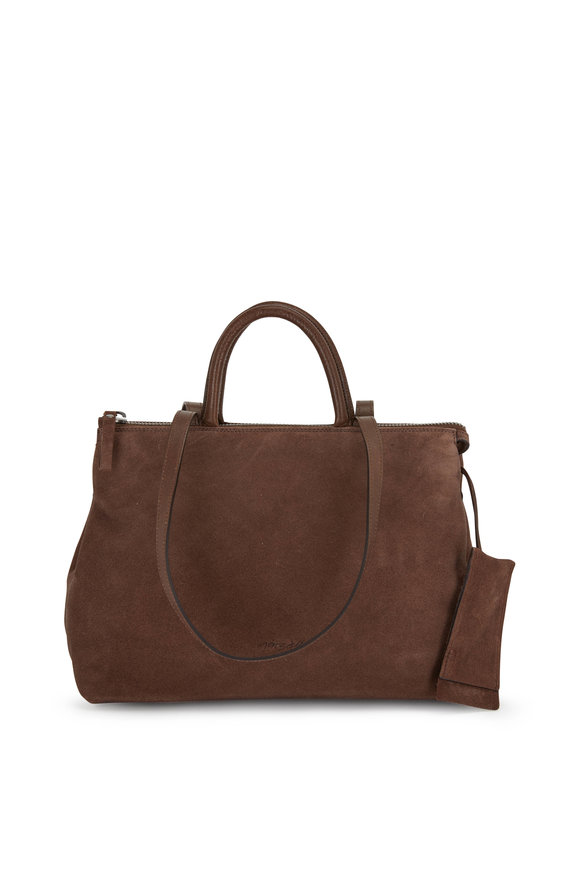Marsell Dritta Chocolate Suede Convertible Tote