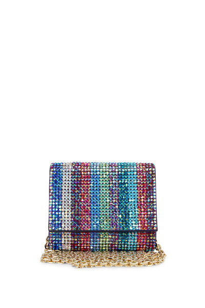 Judith Leiber Couture - Champagne Multi-Color Crystal Micro Bag