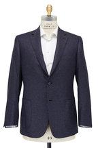 Brioni - Navy Micro Neat Silk & Cashmere Sportcoat