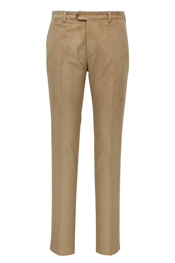 Tan Corduroy Stretch Pant