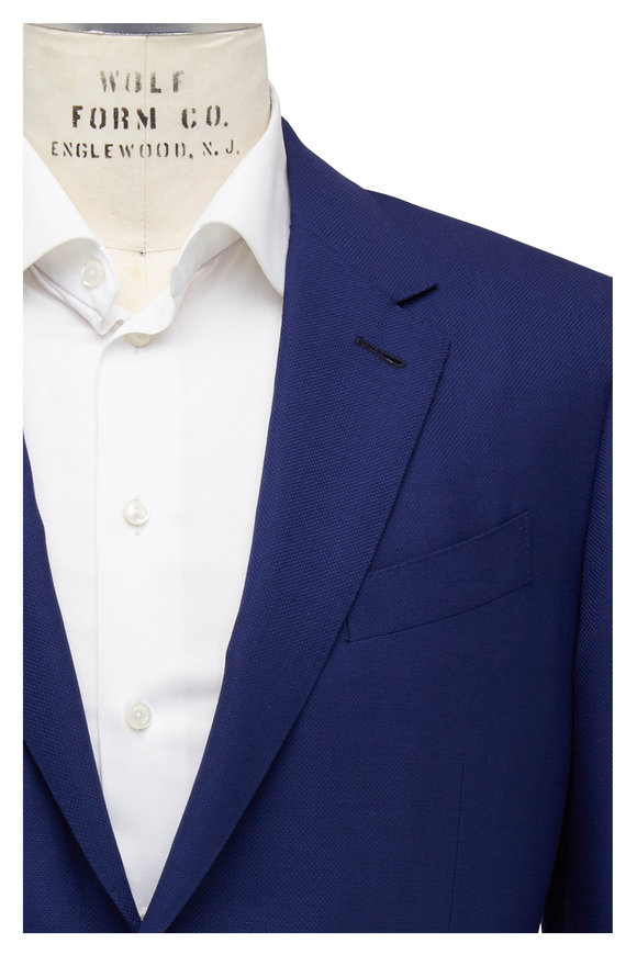 Ermenegildo Zegna Solid Navy Wool & Silk Sportcoat