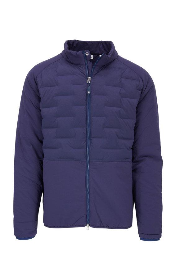 Peter Millar Navy Insulated Front Zip Jacket