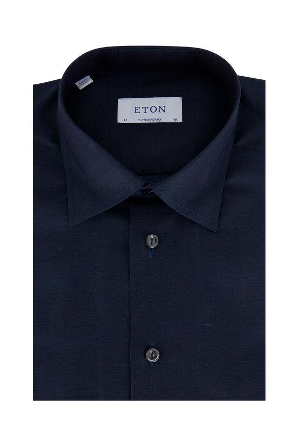 Eton Navy Blue Contemporary Fit Dress Shirt