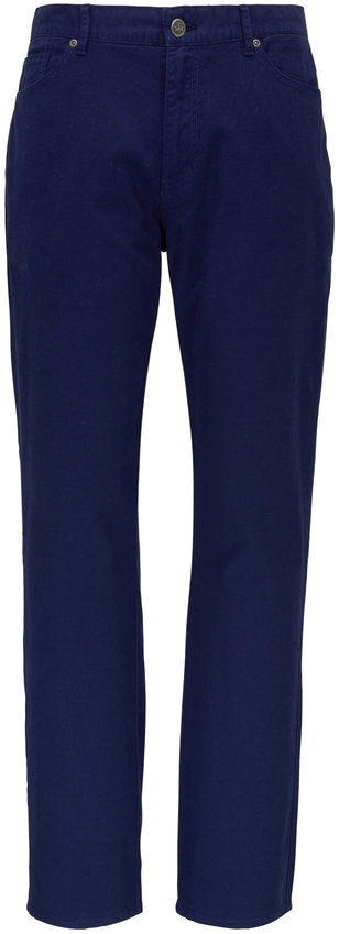 Peter Millar Vintage Navy Canvas Five Pocket Pant