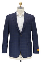 Hickey Freeman - Navy & Blue Check Wool Sportcoat