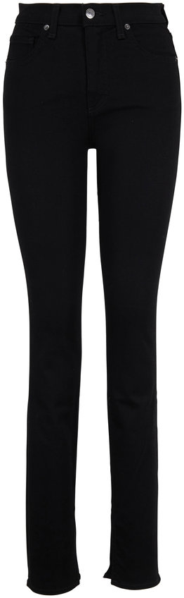 Veronica Beard Kate Black High-Rise Split Hem Skinny Jean