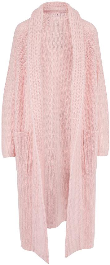 Gabriela Hearst Gunnersbury Blush Cashmere Blend Knit Cardigan