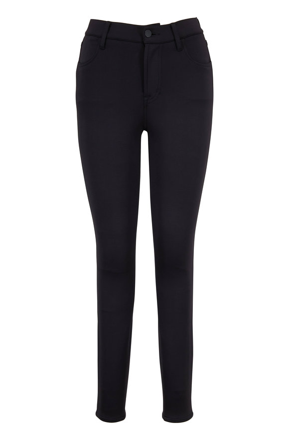 Alana Black Scuba High-Rise Skinny Pant