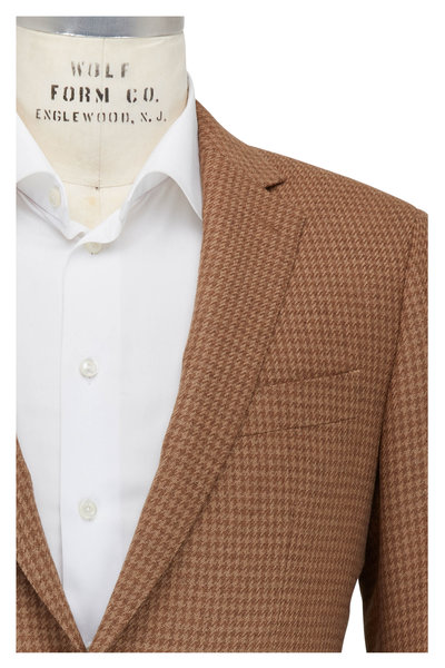 Atelier Munro - Camel & Sandstone Houndstooth Sportcoat
