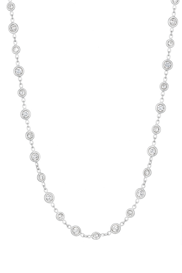 White Gold Diamond Eyeglass Necklace