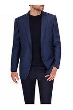 Ermenegildo Zegna - Navy Wool Flannel Five Pocket Pant