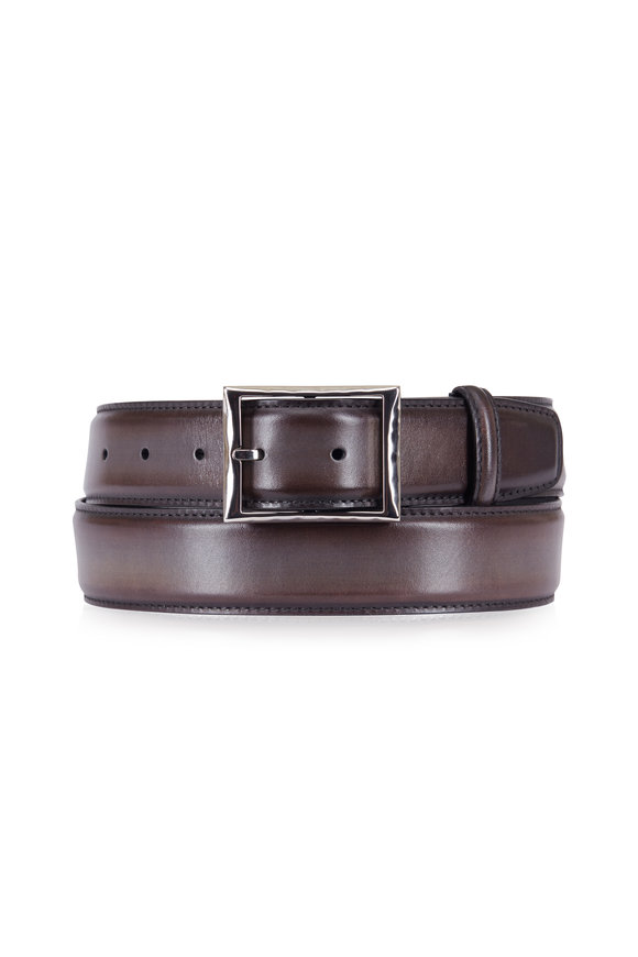 Berluti Brown Venezia Leather Belt