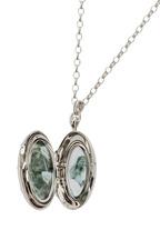Monica Rich Kosann - Sterling Silver Sapphire Starburst Locket Necklace