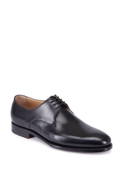 Kiton - Black Leather Blucher Shoe