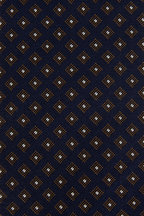 Bigi - Navy Blue & Gold Patterned Silk Necktie