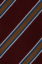 Bigi - Burgundy & Gold Striped Silk Necktie