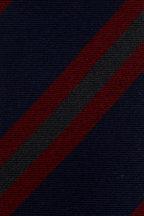 Bigi - Navy & Dark Red Striped Cashmere Necktie