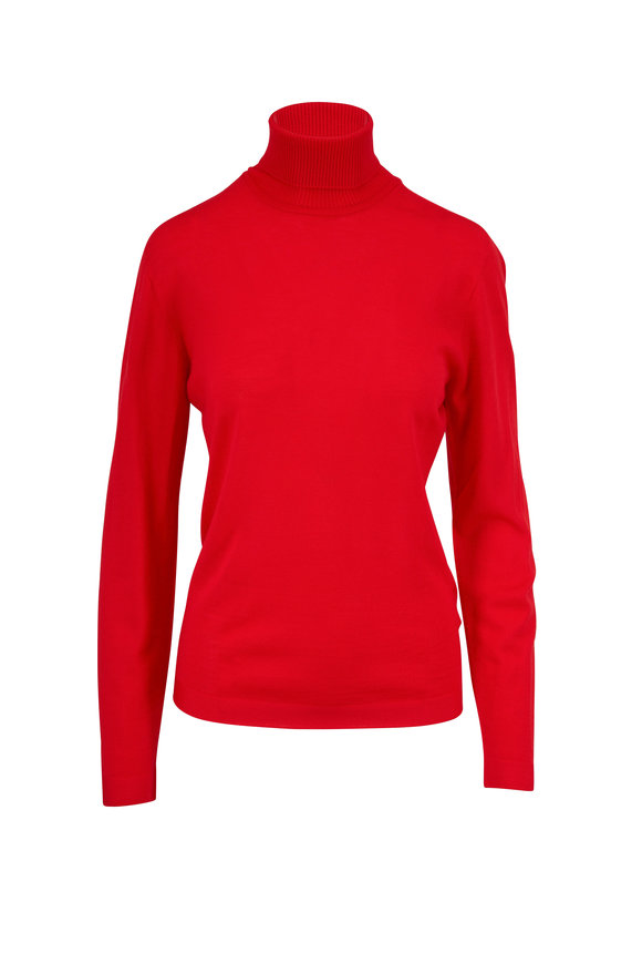 Escada Sbella Red Ruby Wool Sweater