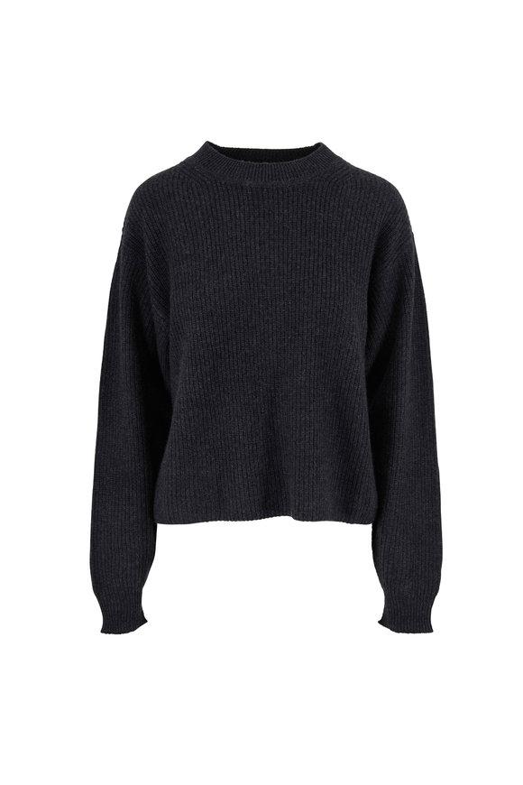 Le Kasha Dubai Charcoal Cashmere Ribbed Knit Sweater