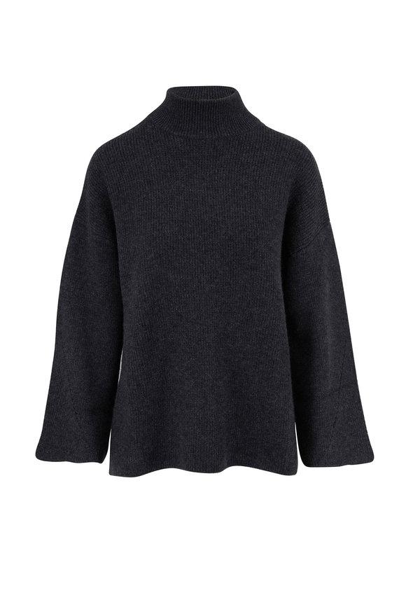 Le Kasha Antibes Milano Charcoal Cashmere Sweater