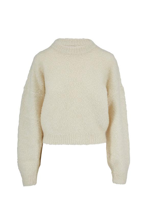 Le Kasha Baden Beige Bouclé Cashmere Sweater