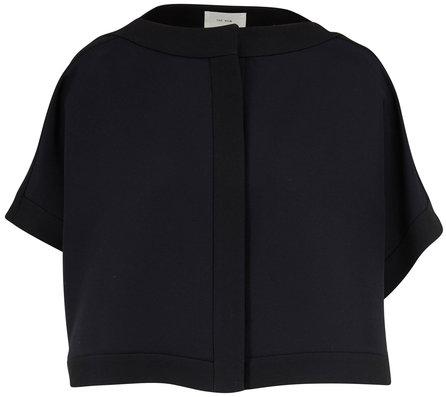 The Row Miri Black Faille Crop Jacket