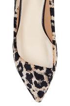 Francesco Russo - Leopard Velvet Pointed Ballet Flat