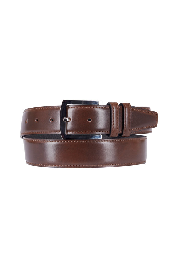 Kiton Dark Brown Leather Belt