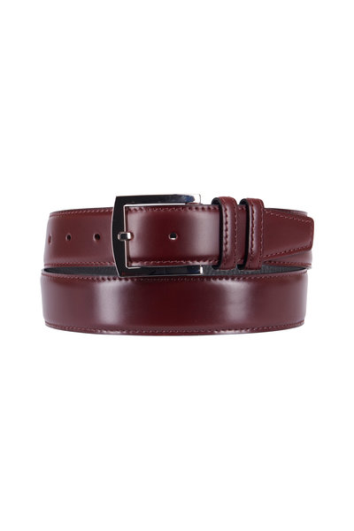 Kiton - Burgundy Leather Belt