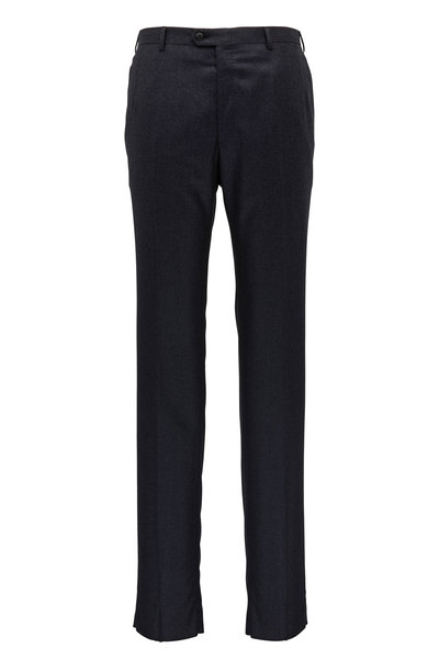 Brioni - Anthracite Wool & Cashmere Pant