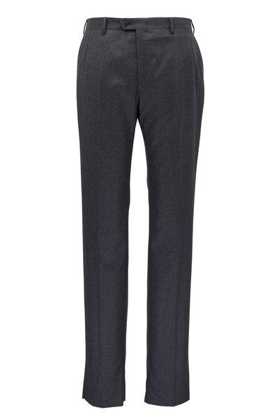 Brioni - Dark Gray Wool & Cashmere Pant