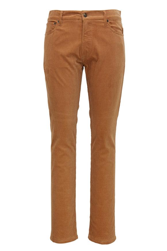 Ralph Lauren Camel Corduroy Five Pocket Slim Fit Pant