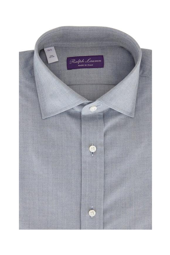 Ralph Lauren Light Blue Herringbone Sport Shirt