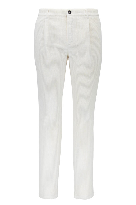 Altea Winter White Wide Corduroy Pant