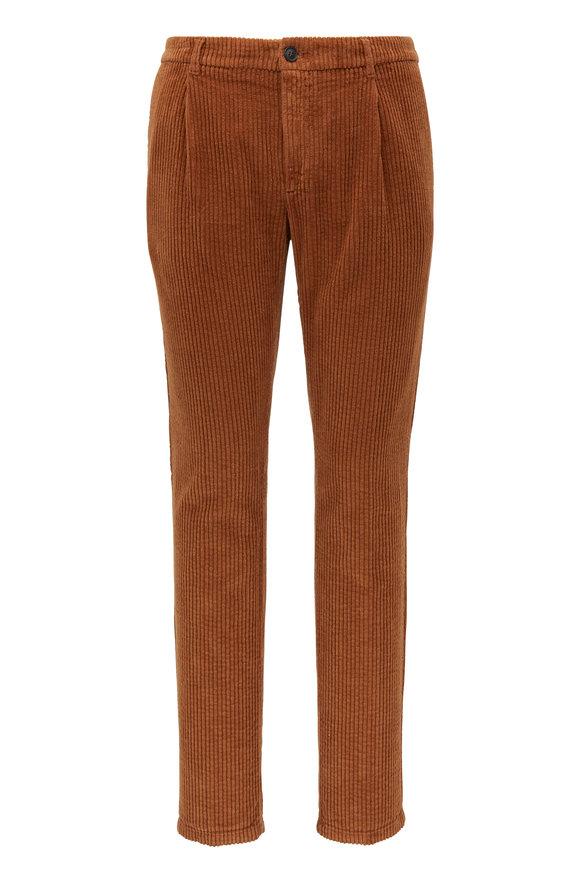 Altea Dark Tan Wide Corduroy Pant