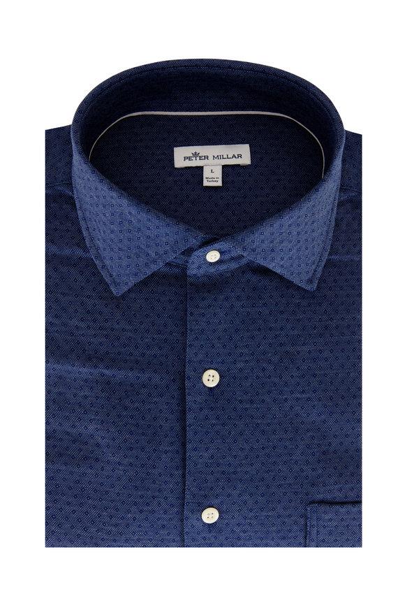 Peter Millar Navy Blue Diamondback Sport Shirt