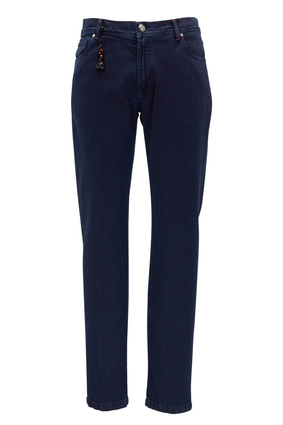 Marco Pescarolo Navy Overdyed Japanese Denim Pant