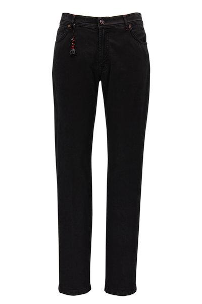 Marco Pescarolo - Black Cotton & Cashmere Five Pocket Pant