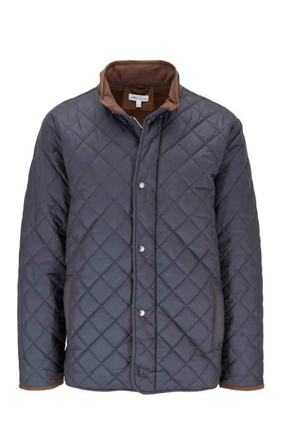 Peter Millar Suffolk Black Quilted Travel Jacket