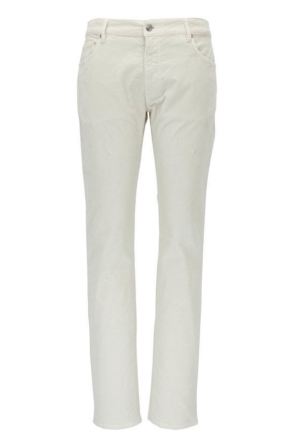 PT Pantaloni Torino Beige Corduroy Five Pocket Pant