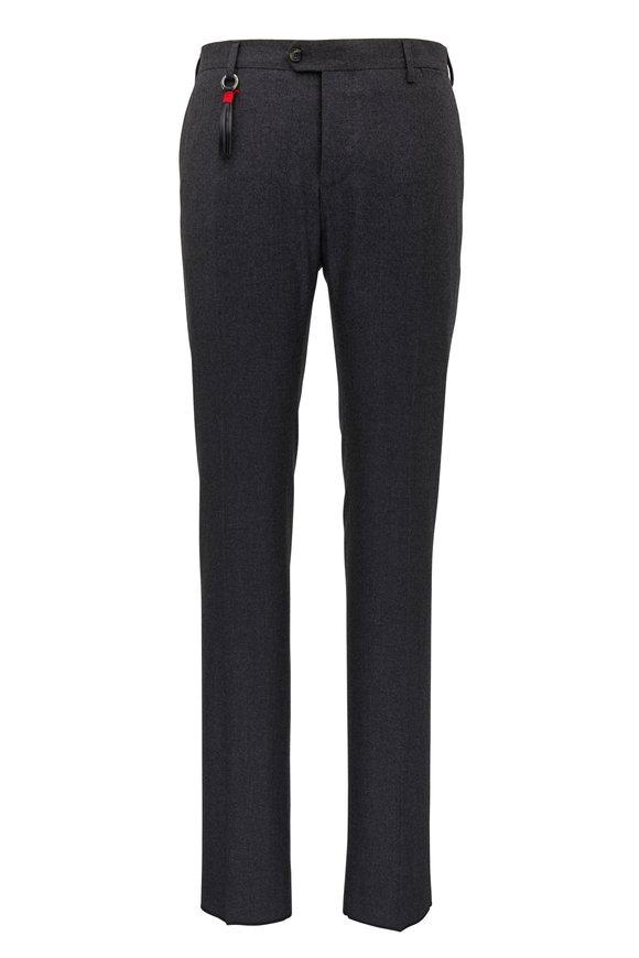 Marco Pescarolo Gray Stretch Cashmere Slim Fit Pant