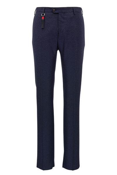 Marco Pescarolo - Navy Stretch Cashmere Slim Fit Pant