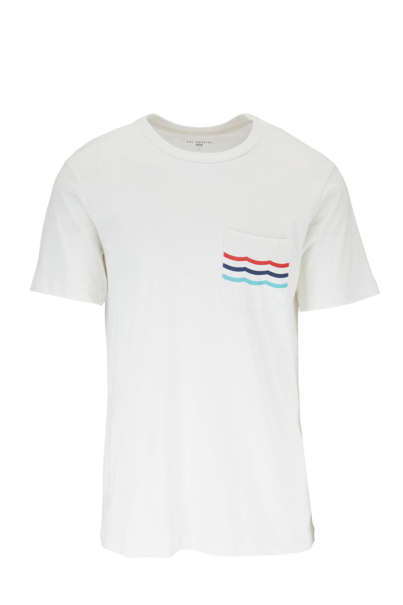 Sol Angeles Americana Waves White Pocket T-Shirt